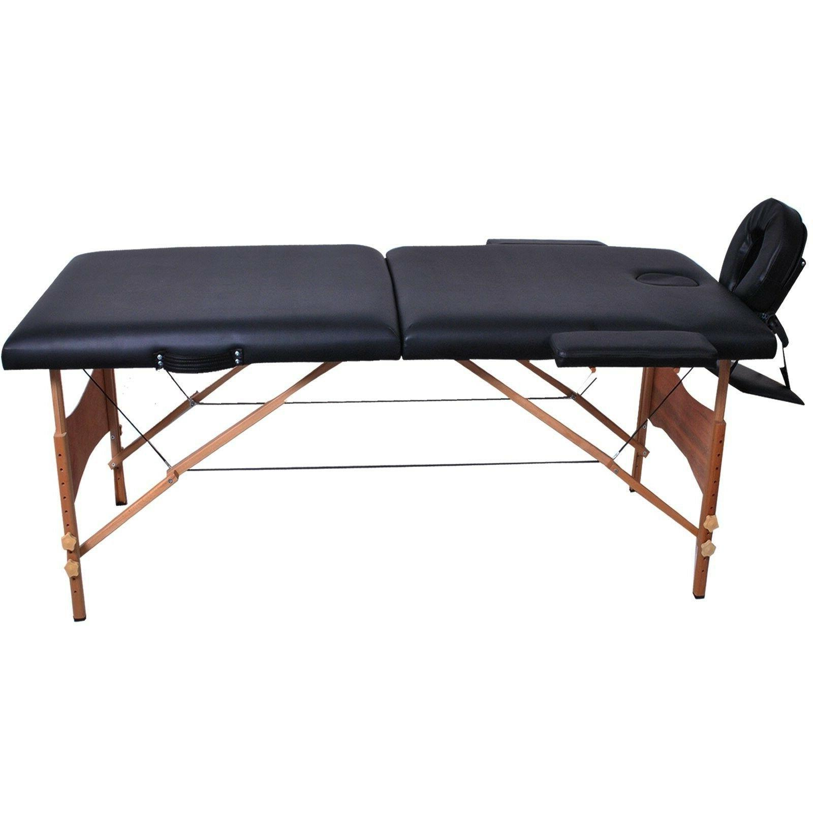 "Giantex 84""l Portable Massage Table Facial SPA Tattoo W/free Carry (Bla"