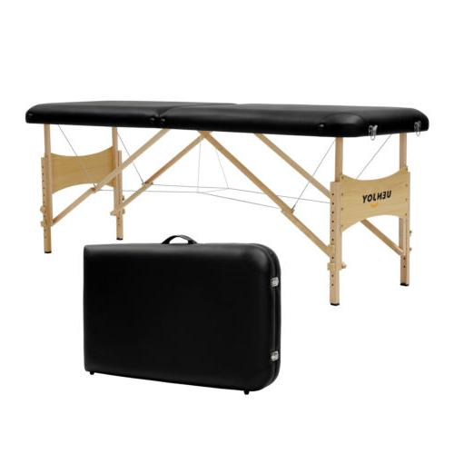 "73""L Fold Portable Massage Table Bed w/ Carry Bag"