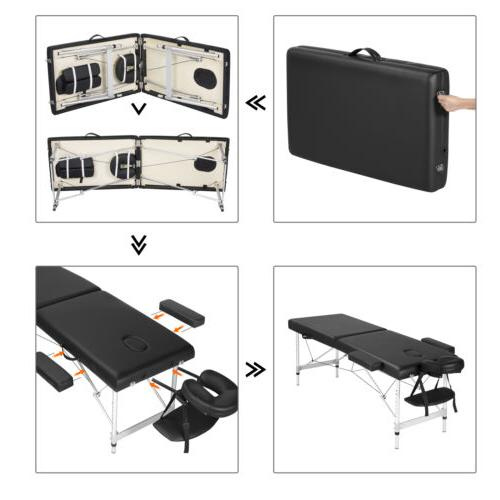 Adjustable Massage Bed Folding Spa Table with Carrying
