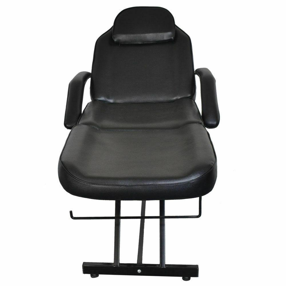 Adjustable Tattoo Massage Bed Facial Beauty Barber Chair Black