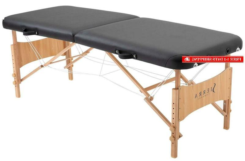 basic portable massage table black