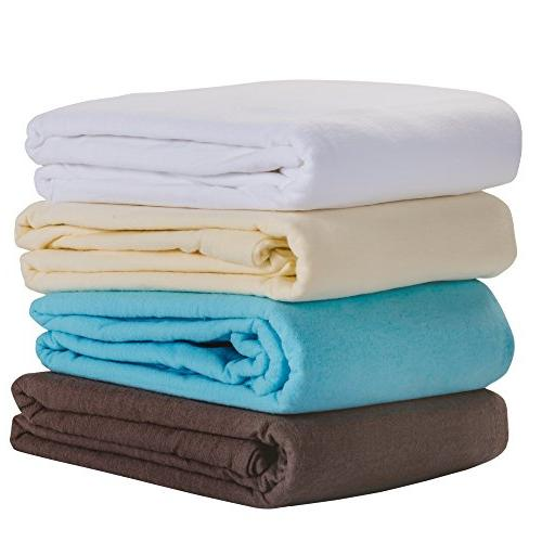 EARTHLITE Flannel Table Sheet Set Commercial Grade, Soft, Double-Napped 3-Piece Set
