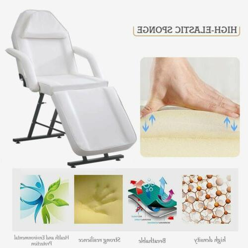 Salon Barber Chair Tattoo Chairs Massage Folding Facial Bed White