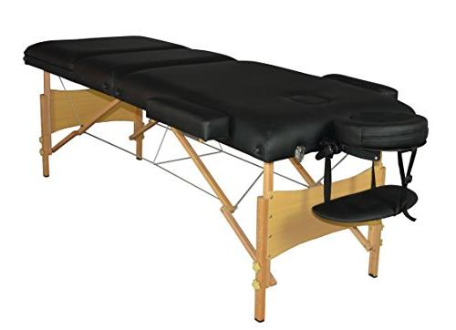 Black Massage Table Facial SPA Bed W/carry Case T3