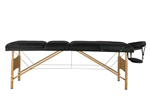 Black Massage Table Facial Bed Tattoo T3