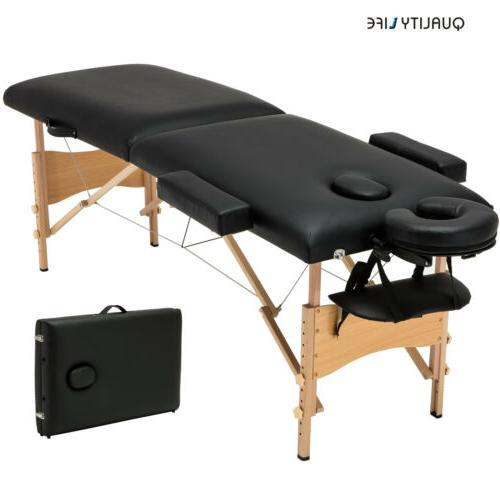 Black Massage Table Facial Bed Tattoo w/Free Case