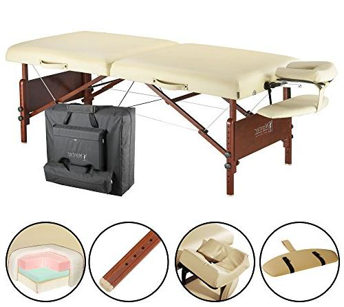 """Master Massage 30"""" Del Ray Table Package, Sand Color, Cushion"""
