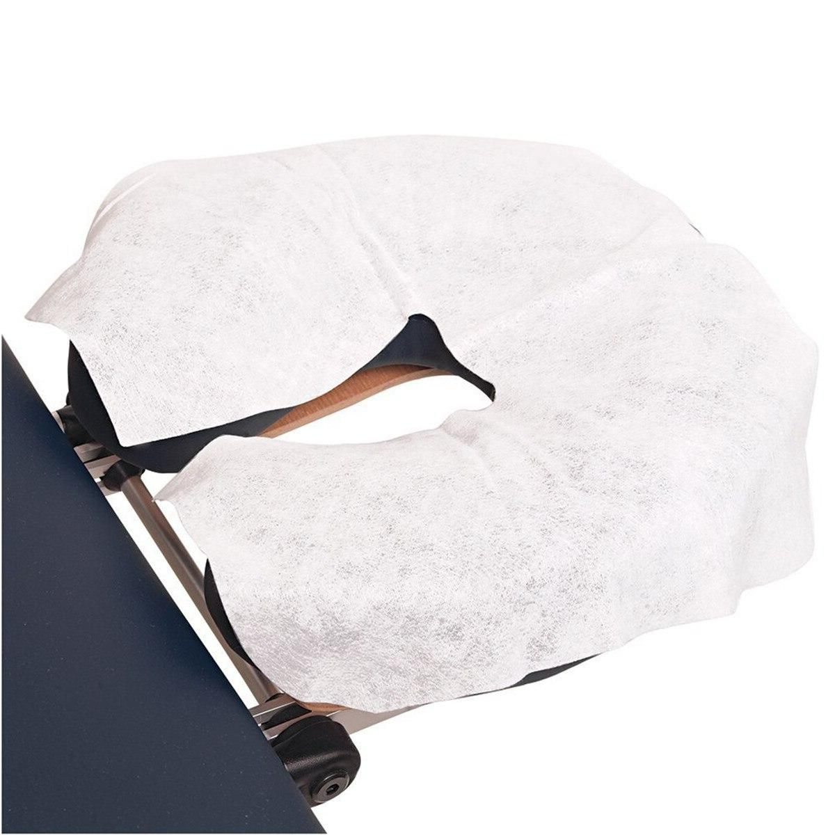 Disposable <font><b>Headrest</b></font> Paper Beauty Bed Face Cradle <font><b>Table</b></font> Rest Covers 100Pcs