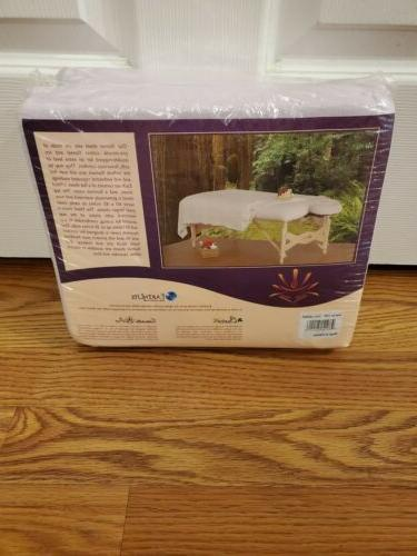 EARTHLITE Flannel Massage Table Sheet Set Top Sheet, Fitted