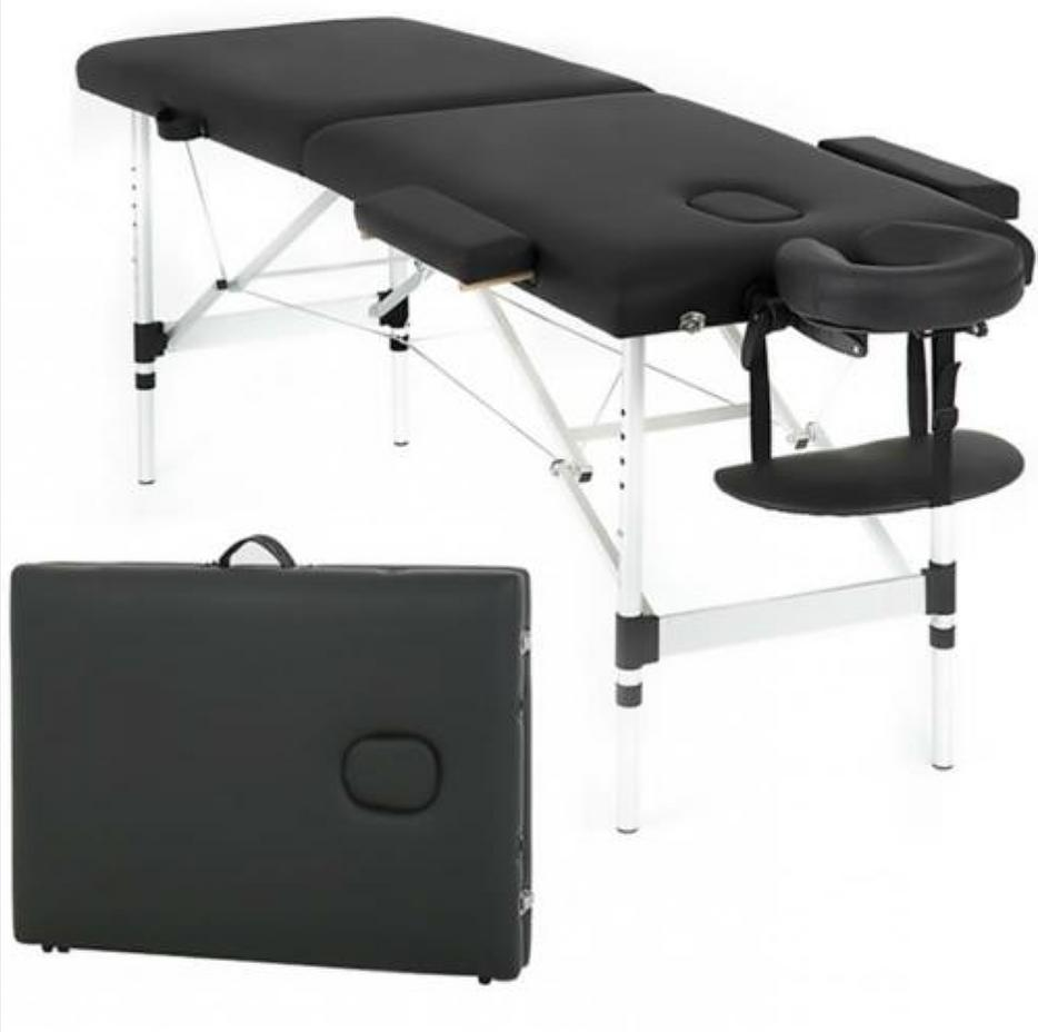 earthlite portable massage table black foldable treatment