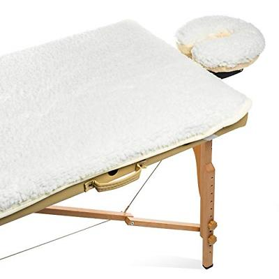 fleece massage table pad and face cradle