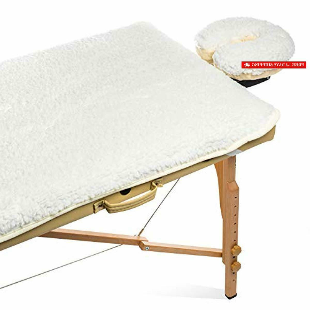fleece massage table pad face cradle set