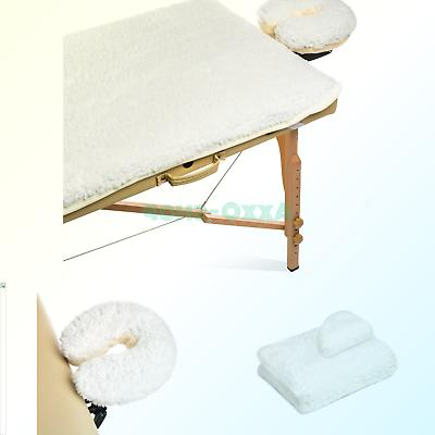 Saloniture Table Pad Set - Comfortable Thick Bed - Natural