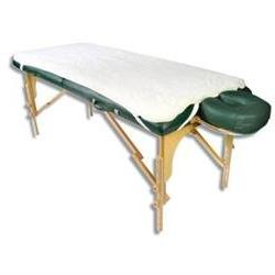 NRG Massage Fleece Table Pad, Natural