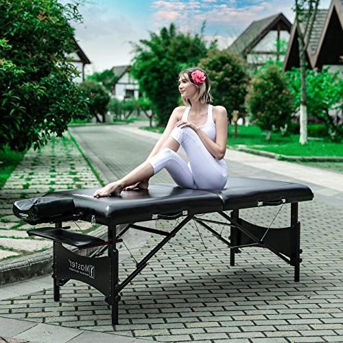 Master Lx Portable Table Package Black Memory Foam
