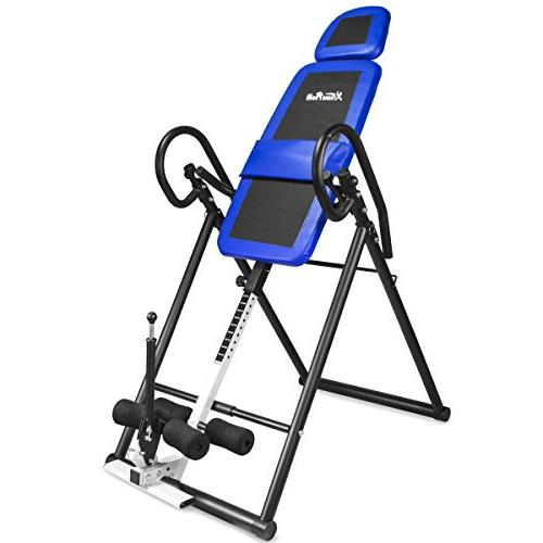 XtremepowerUS Gravity Inversion Therapy Table Back Pain Reli