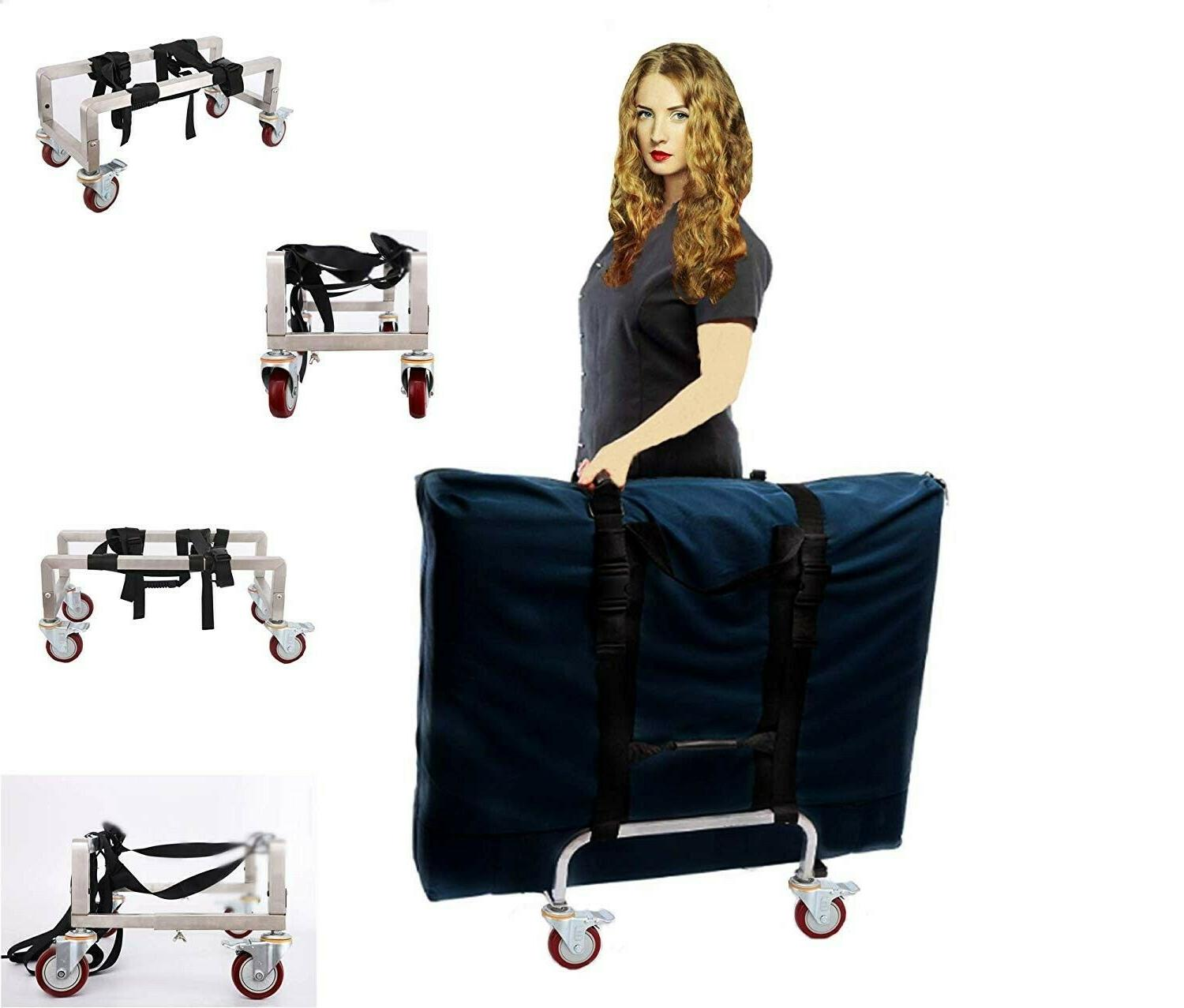 massage table cart trolley for professionals aluminium