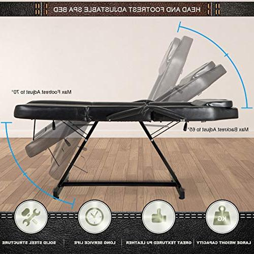 Giantex Bed with Adjustable Tables Beauty, Updated Facial and Tattoo Chairs,