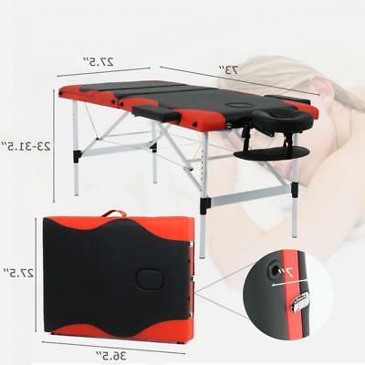 Massage Table 3 Fold W/Face 84'' Portable
