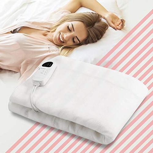 Giantex Massage Table Electric Blanket Size Heated Safety Five Mode Detachable Connector