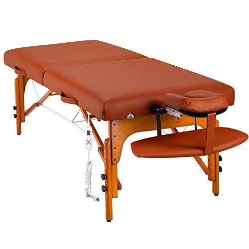 Master Massage Santana Top Foam Massage Table Package, Red, 31 Inch