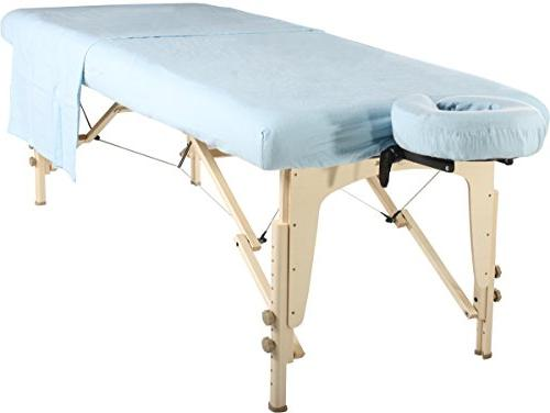 Master Massage Massage Table Flannel Set 3 1 Table Cover, Face Cover, Table Sheet,