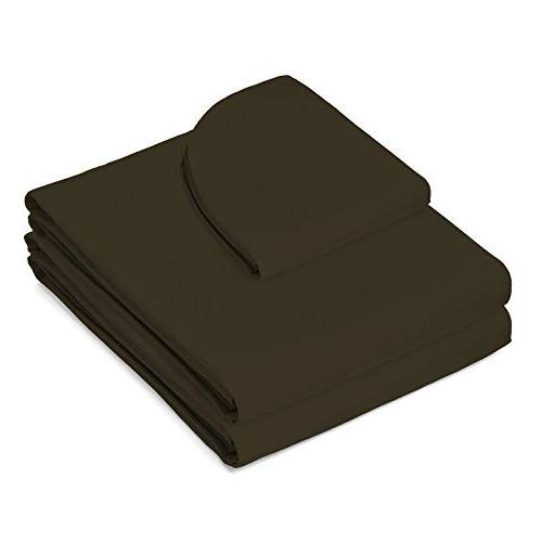 Saloniture Microfiber Table Premium Cover - Flat Fitted Sheets Brown