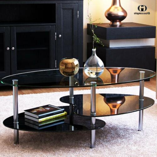 Modern Table Side w/ Shelves