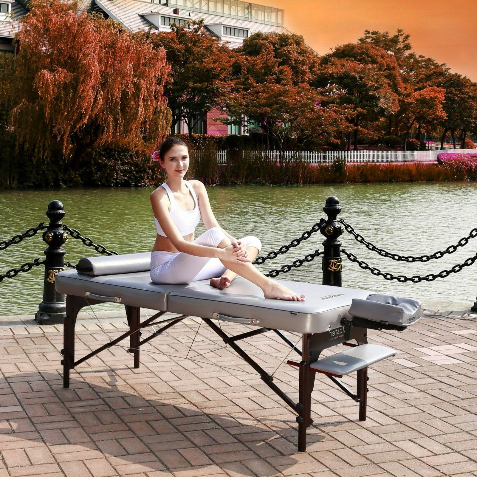 Master Massage 30 inch Montour Memory Table Package Grey