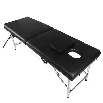 Professional New Spa Bed 2 Folding Chair Black