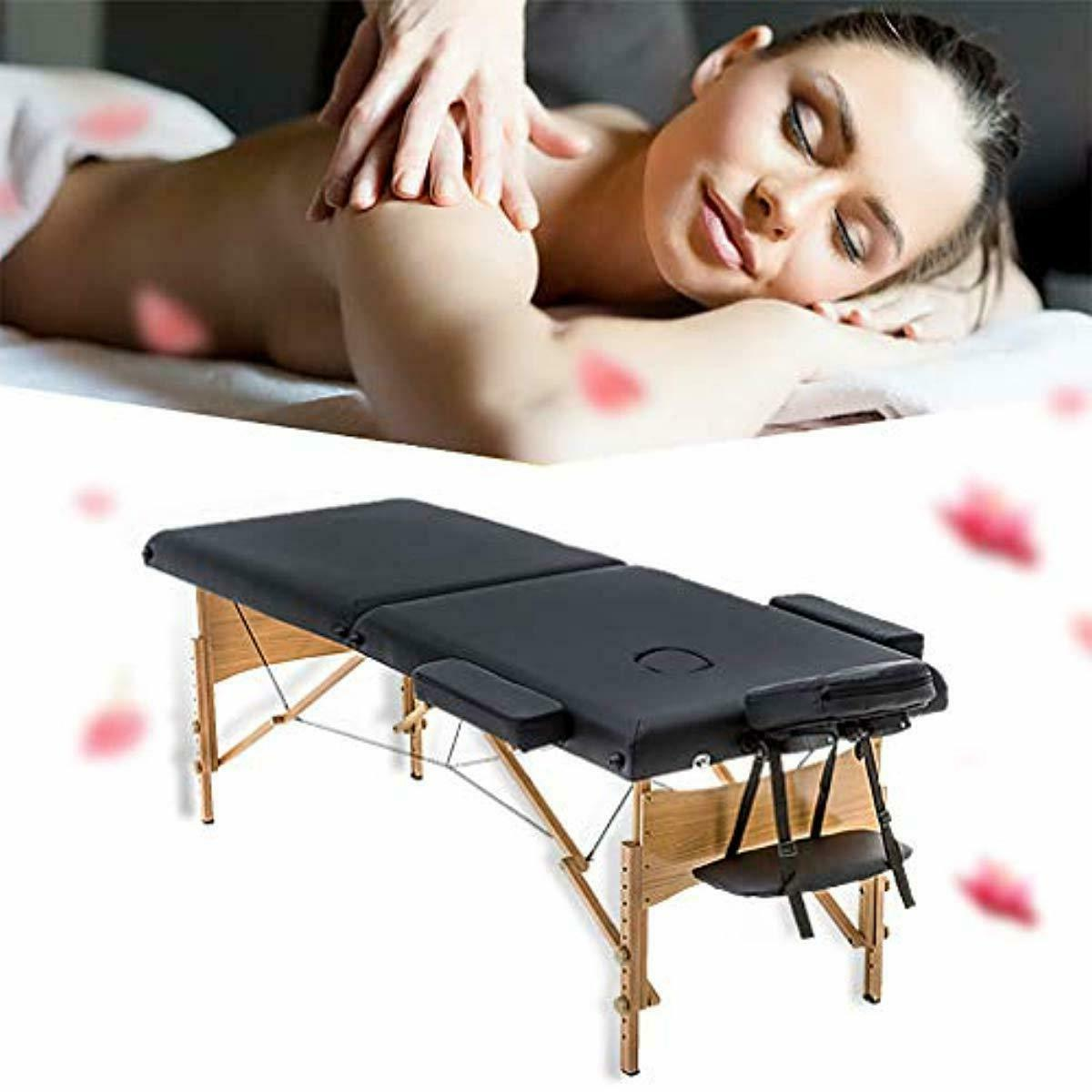 New Black Massage Table w/Free Case Chair Facial