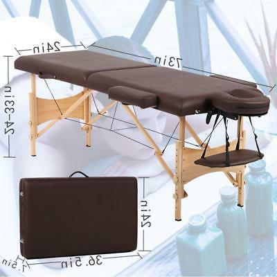 New Adjustable Height Massage with Storage Brown