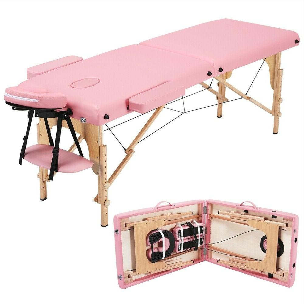 PINK Adjustable 2 Sections Folding Couch