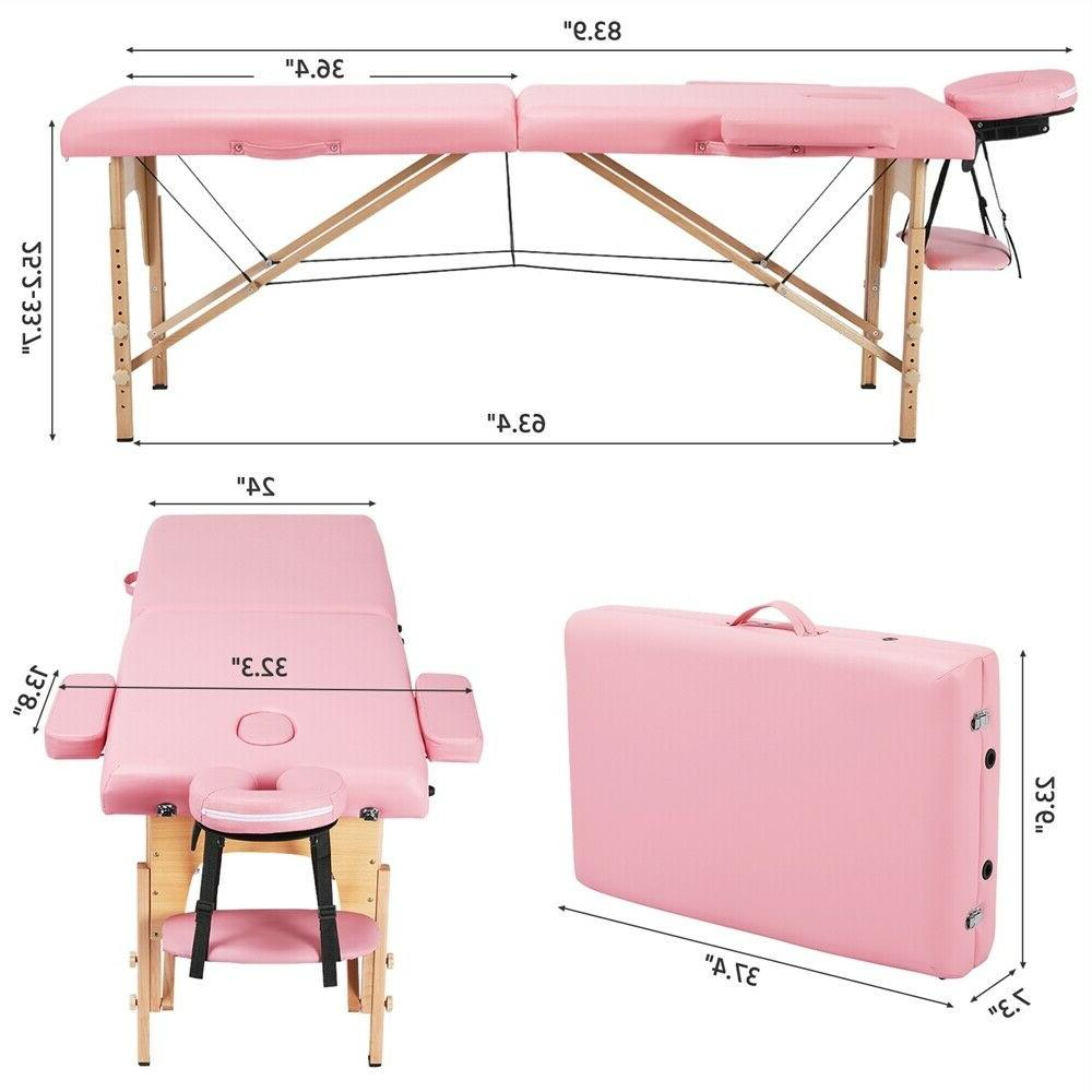 PINK Massage 2 Sections Couch Spa Table