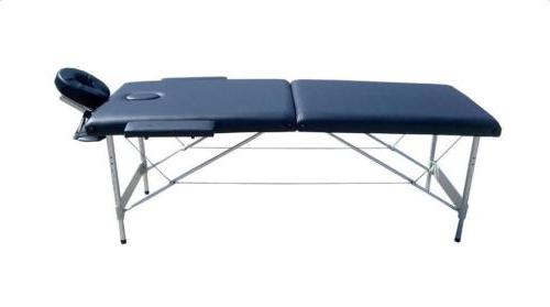 Portable 2 Massage Table Salon Beauty Bed Balck