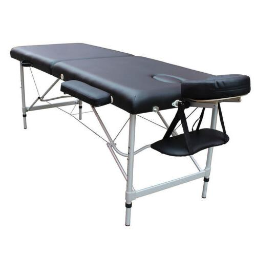 Portable 2 Fold Table SPA Beauty Balck