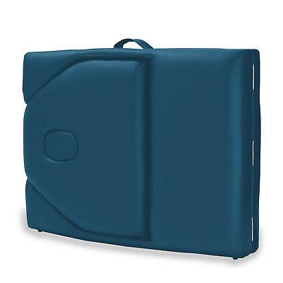Portable Blue with Bolster Backrest
