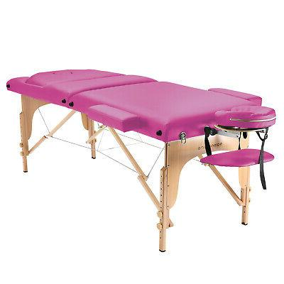 Portable Pink Table with Bolster Tilt