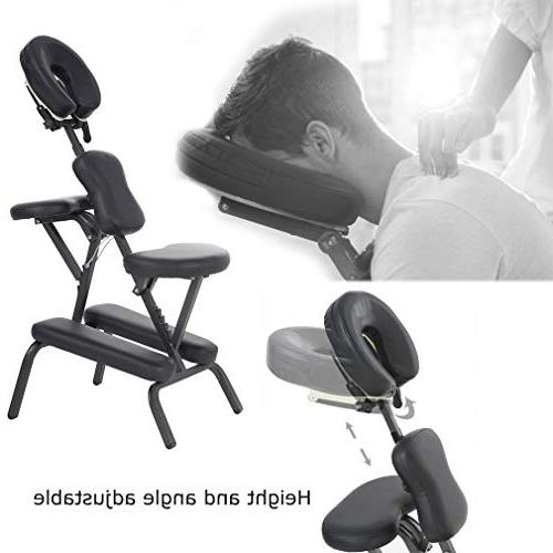 "Portable Massage Chair 4"" Thick Foam With BLACK"