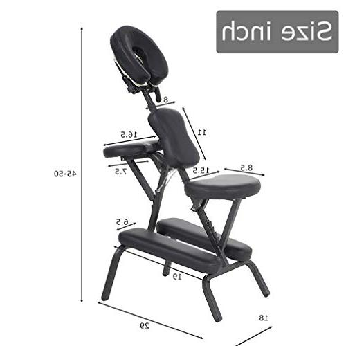 "Portable Massage Chair 4"" Thick Weight With Free BLACK"