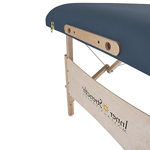 INNER STRENGTH Portable Massage Table Incl. Deluxe Cradle, Face Pillow Carrying Agate