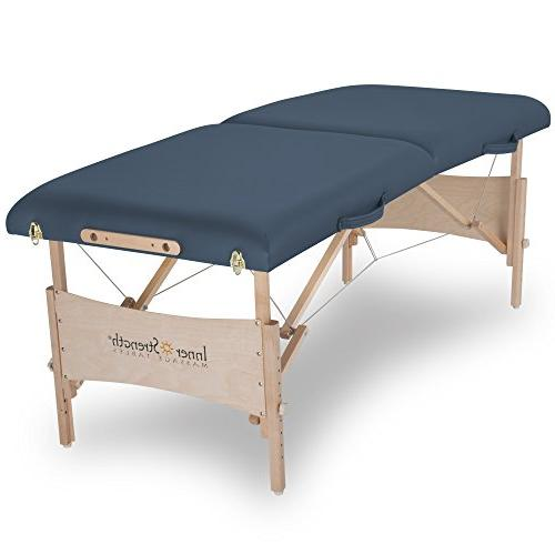 INNER Portable Table ELEMENT Incl. Adjustable Cradle, Pillow Carrying Case,