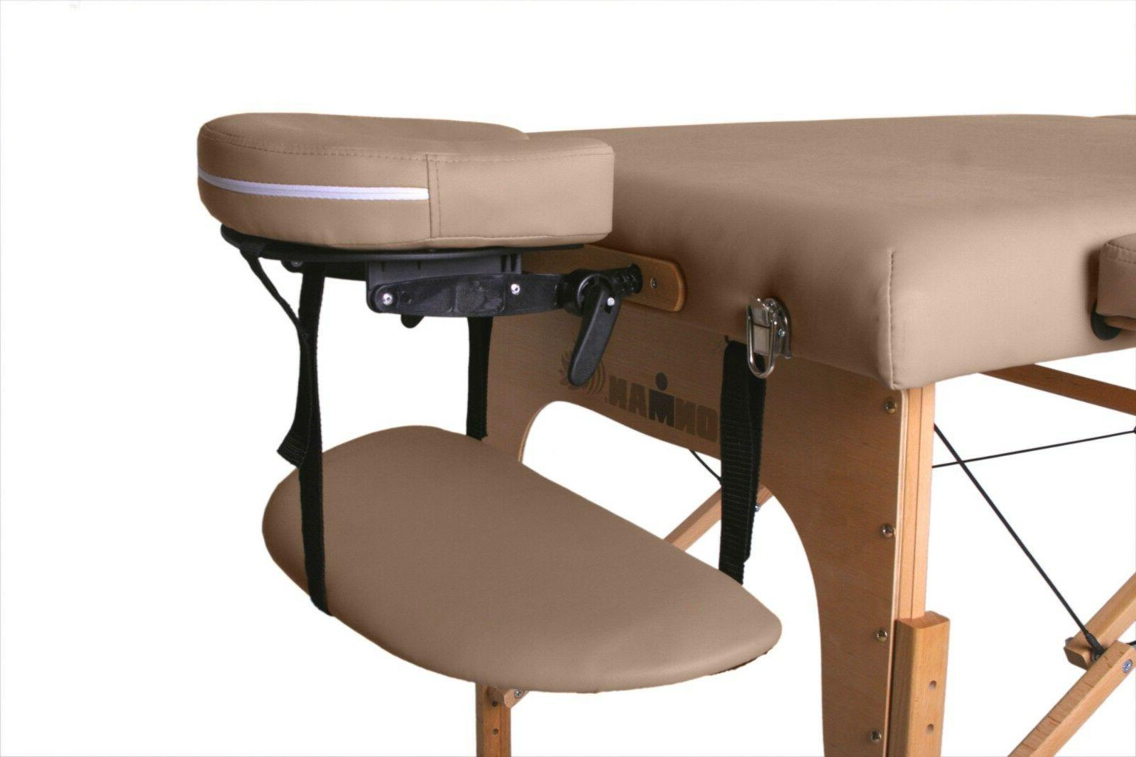 Portable Massage Table Ironman Foldable Adjustable Santa Cruz Deluxe Carry
