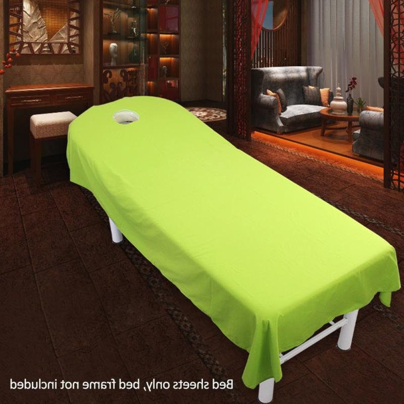 Professional Cosmetic salon sheets SPA <font><b>table</b></font> cover with hole 9 Choose