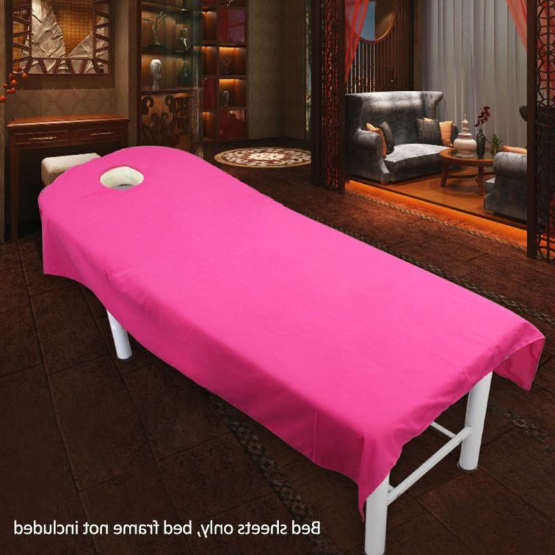 Professional Cosmetic sheets SPA treatment bed hole 9