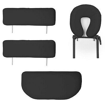Saloniture Professional Folding Massage Table Case Blac