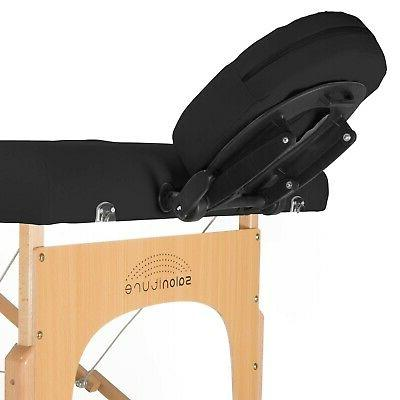 Saloniture Professional Massage Table Case Blac