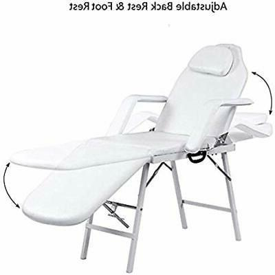 Spa Table Facial Bed Massage Tattoo Chair, L For Salon