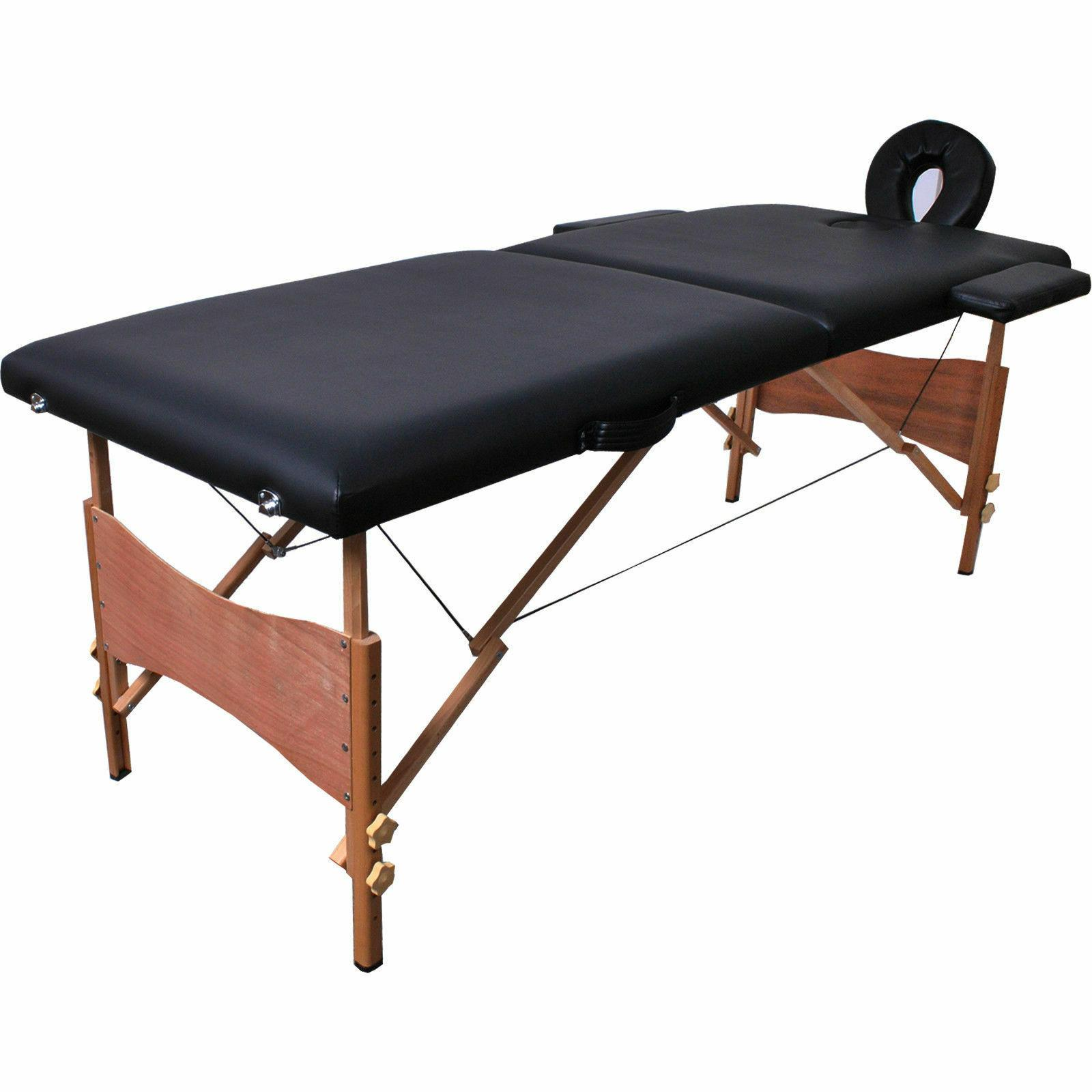 Table Bed Tattoo w/Free Carry Case Black Goplus Massage