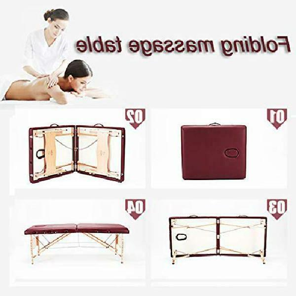 Bestmassage Two Burgundy Portable Table